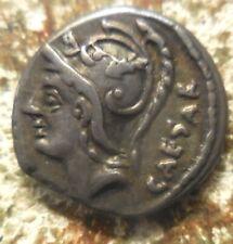 L. Julius L.f. Caesar Roman Republic AR Denarius 103BC Mars/Venus Biga of Cupids