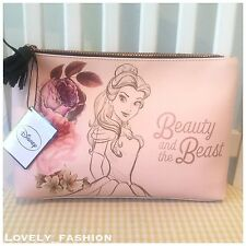Beauty And The Beast Wash Bag Large Vanity Case Make Up Bag Belle Pink Primark