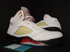 Nike Air Jordan V 5 Retro WHITE FIRE RED BLACK METALLIC SILVER 136027-100 MEN 7