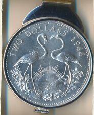 **2 Flamingoes BAHAMAS $2 Sterling Silver Money Clip**