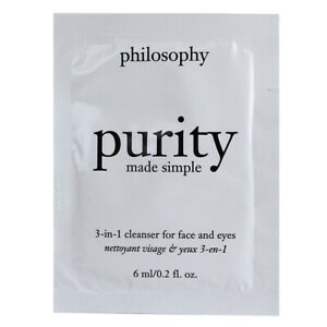 Philosophy Purity Made Simple 3-in-1 Cleanser for Face and Eyes SAMPLE 0.2oz/6ml