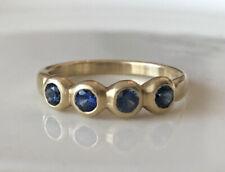 Marian Maurer Porch Skimmer Blue Sapphire Ring 18K Yellow Gold - Sz 7.5 - NEW