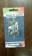 "Swag Hook Antique brass look  2 Peerless Swag Hooks 2"" 51 mm NIP"