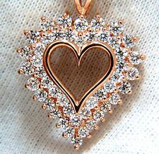2.50ct diamonds open heart necklace 14kt g/vs 20inch