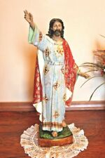 Risen Jesus Christ 23 inch Statue Spanish Style Gilded Gold Accents Easter