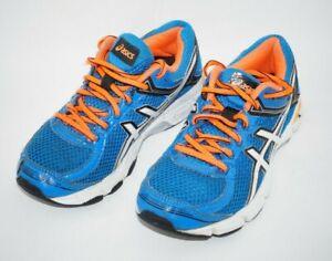 Asics Youth Gel GT-1000 4 Blue/Orange/White Athletic Shoes KIds Size 3 C558N-390
