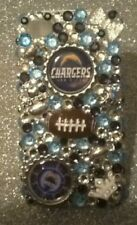 San Diego Chargers bling case for iPhone 4s,5,5s,5c,6, Samsung Galaxy S3,S4 &S5