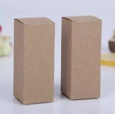 10 Pcs Kraft brown cardboard boxes 28x28x70mm lipstick oils packaging sample box