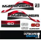 Mariner 60hp 2 Stroke Split Back Outboard Engine Decalssticker Kit