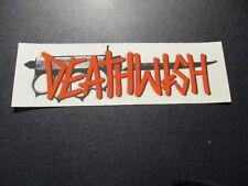 "DEATHWISH Skateboards Sticker Knife Logo 7.25X2.25"" skate helmets decal"