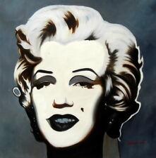 Modern ART-MARILYN MONROE 80x80 cm ritratto dipinto ad olio