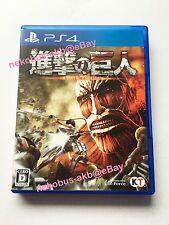 [Used] Attack on Titan [shingeki no kyojin] - PS4 [Japan Import] [PlayStation 4]