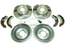 FIAT PUNTO MK1 1.1 1.2 REAR 2 BRAKE DRUMS & SHOES FRONT 2 DISCS & PADS SET NEW