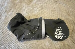 Hurtta Monsoon Dog Rain Coat Adjustable Waterproof 3M Reflector Jacket Size 30