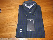 Mens Tommy Hilfiger long sleeve shirt Reg Fit 18 36-37 night blue 082140
