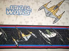 Vintage Tan STAR WARS Twin FITTED and FLAT Bed SHEET, Fabric