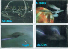 STAR TREK SET OF FOUR SKYMOTION CARDS RELEASED BY BLOCKBUSTER ENTERTAINMENT