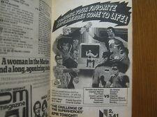 1979 TV Guide(CHALLENGE OF THE SUPERHEROES/DIANA CANOVA/JANE  SEYMOUR/JOY LeDUC