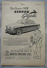 1956 Singer Gazelle Original advert
