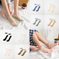 Fashion Transparent Short Socks Women Summer Thin Harajuku Ankle Sock 17