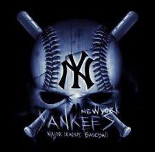 (2) New York Yankees Skull Glossy STICKERS 4x4 Baseball Car Window Vinyl Decal