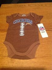 Los Angeles Chargers NFL Baby Football Bodysuit, 0-3 Months, New With Tags