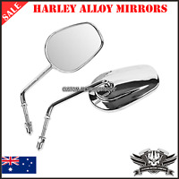 Chrome alloy motorcycle rear view mirror Harley Dyna Road King Sportster XL vrod