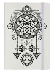 Unorthodox Collective Notebook Mystical Dreamcatcher A5 Hard Cover Cream 14x21cm