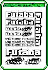 FUTABA RC STICKERS A5 SHEET R/C PLANE CAR BUGGY HELI REMOTE CONTROL WHITE BLACK