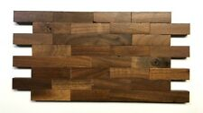 American Walnut Genuine Wood Matchstick 6x12 Wall Tile, Interlocking Bricks