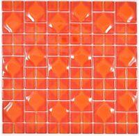 Glasmosaik rot Fliesenspiegel Küche Wandverkleidung Bad WC 68-0925 | 10 Matten