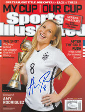Amy Rodriguez Jsa Coa Signed Sports Illustrated World Cup 2015 Si Autographed