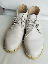 Panam Jack Pebbled White Leather Ankle Chukka Boots - Size EU 44 / US 10-10.5