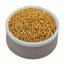 2016 New Fashion 500pcs 5mm Gold Plated Open Jump Rings Connector Findings