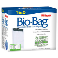 Tetra Whisper Unassembled Bio-Bag Filter Cartridges Medium, 8-Pack