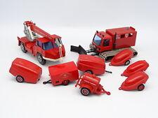 Solido SB 1/50 - Lot 9 Pompiers : Chasse Neige et Grue Richier + 7 Remorques