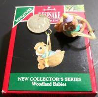 Vintage 1991 Hallmark Keepsake Miniature New Collectors Series Woodland Babies