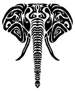 """3"""" Elephant Mammal Large African Animal Trippy Psychedelic Vinyl Cool Sticker"""