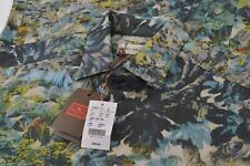 NWT Etro Size US 39 Dress Shirt Brand New Made in Italy Wild Print Blue Green