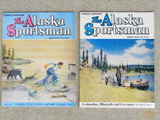 Vintage 1953 Alaska Sportsman Magazine Lot of 2 Hunting Fishing Regional Ads