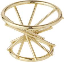 """Bard's Brass Egg Stand/Holder, Swirl Leg, 2"""" diameter"""