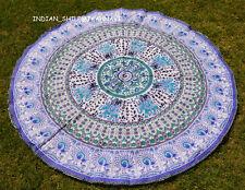 Hippie Elephant Mandala Tapestry Indian Wall Hanging Beach Throw Yoga Mat Cotton