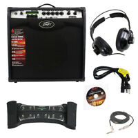 "Peavey Vypyr Vip3 Guitar Amp 12"" W/ Sanpera Ii Foot Controller Cable Headphones"