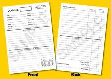 More details for a5 garage workshop repair job cards - job sheet - time card - works card - white