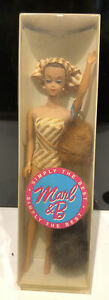 Vintage 1963 Mattel Fashion Queen Barbie-With Outfit & 3 Wigs Original Box