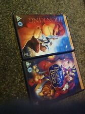 2 Disney Dvds With Gold Oval LION KING & BEAUTY AND THE BEAST