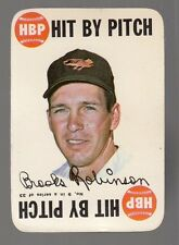 """[58428] 1968 TOPPS GAME BROOKS ROBINSON #9 CARD """"HIT BY PITCH"""""""