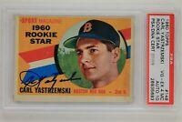Carl Yastrzemski 1960 Topps #148 Rookie Star Signed Autographed Rookie Card PSA