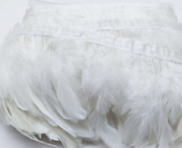 White Rooster Coque Feather Fringe Ribbon Trim DIY Price for 30cm Craft Costume