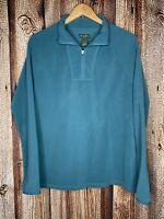 Eddie Bauer Womens Fleece Half Zip Sweater Green XL